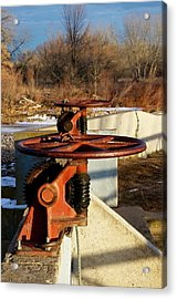 Sunset Water Works Acrylic Print by Christopher Wood