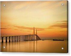 Sunshine Skyway Bridge Acrylic Print by G Vargas