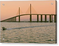 Sunshine Skyway Bridge Acrylic Print by Ixefra