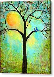 Sunshine Tree Acrylic Print by Blenda Studio
