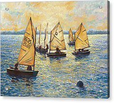 Sunwashed Sailors Acrylic Print by Marguerite Chadwick-Juner