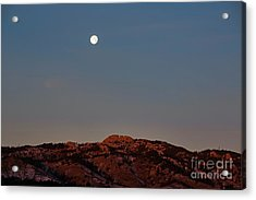 Super Moon And Horsetooth Rock Acrylic Print by Jon Burch Photography