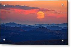 Super Moon At Sunrise Acrylic Print by Darren White