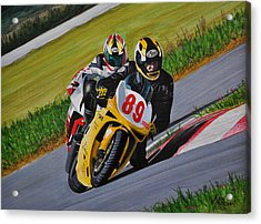 Superbikes Acrylic Print by Kenneth M  Kirsch
