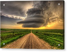Supercell Highway - Arcadia Nebraska Acrylic Print by Douglas Berry