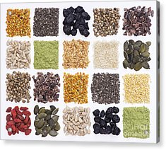 Superfood Grid Acrylic Print by Tim Gainey