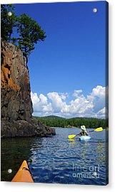 Superior Kayaking Day Acrylic Print by Sandra Updyke