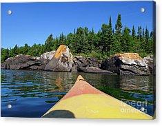 Superior Kayaking Acrylic Print by Sandra Updyke