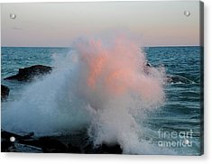 Superior Sundown Splash Acrylic Print by Sandra Updyke