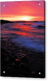 Superior Sunrise Acrylic Print by Larry Ricker