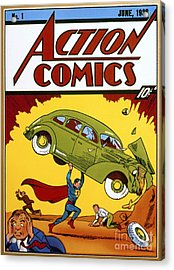 Superman Comic Book, 1938 Acrylic Print by Granger