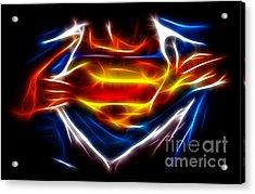 Superman Acrylic Print by Pamela Johnson