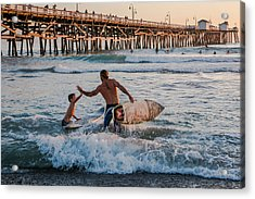 Surfboard Inspirational Acrylic Print by Scott Campbell