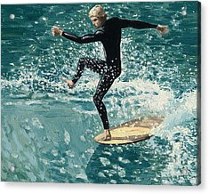Surfer Acrylic Print by Andrew Palmer