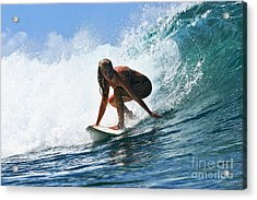 Surfer Girl At Bowls 8 Acrylic Print by Paul Topp