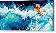 Surfer Girl Acrylic Print by Hanne Lore Koehler