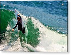 Surfer, Steamer Lane, Series 18 Acrylic Print by Antonia Citrino
