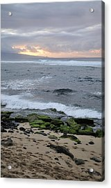 Surfing Sunset Acrylic Print by Andy Smy