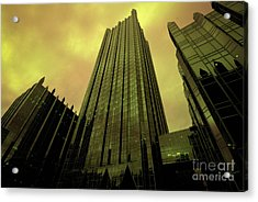 Surreal View Of Ppg Plaza Pittsburgh Acrylic Print by Amy Cicconi