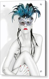 Survivor - Self Portrait Acrylic Print by Jaeda DeWalt