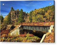 Susan River Bridge On The Bizz Acrylic Print by James Eddy