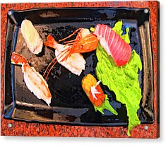 Sushi Plate 2 Acrylic Print by Dominic Piperata