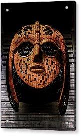 Sutton Hoo - Saxon Mask Acrylic Print by Martin Newman