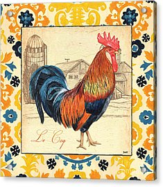 Suzani Rooster 2 Acrylic Print by Debbie DeWitt