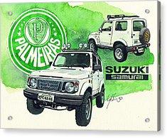 Suzuki Samurai Acrylic Print by Yoshiharu Miyakawa