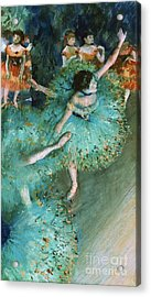 Swaying Dancer In Green Acrylic Print by Pg Reproductions