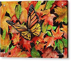 Sweet Autumn Acrylic Print by Laneea Tolley