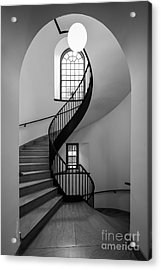 Sweet Briar College Cochran Library Stairwell Acrylic Print by University Icons