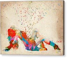 Sweet Jenny Bursting With Music Acrylic Print by Nikki Smith