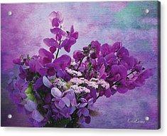 Sweet Purple Bouquet Acrylic Print by Karo Evans