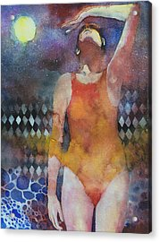 Swimmer Acrylic Print by Alessandro Andreuccetti