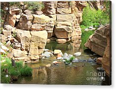 Swimming Hole At Slide Rock Acrylic Print by Carol Groenen