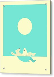 Swimming Lessons Acrylic Print by Jazzberry Blue