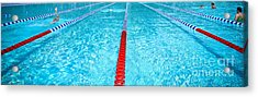 Swimming Pool Lap Lanes Acrylic Print by Amy Cicconi