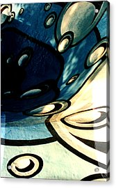 Swimming Pool Mural Detail 2 Acrylic Print by Rachel Christine Nowicki