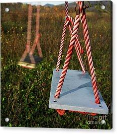 Swings Acrylic Print by Bernard Jaubert