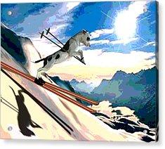 Swiss Alps Acrylic Print by Jann Paxton