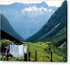 Swiss Laundry Acrylic Print by Joe Bonita