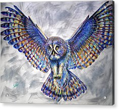 Swoop Acrylic Print by Teshia Art