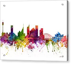 Sydney Australia Cityscape 06 Acrylic Print by Aged Pixel