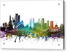 Sydney Cityscape 01 Acrylic Print by Aged Pixel