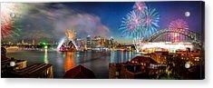 Sydney Sparkles Acrylic Print by Az Jackson