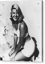 Sylvia Plath, C. 1954 After Her Nervous Acrylic Print by Everett