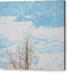 Symphony In The Snow Acrylic Print by Veronika Logar