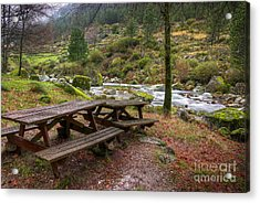 Tables By The River Acrylic Print by Carlos Caetano