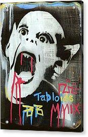 Tabloids Acrylic Print by Robert Wolverton Jr